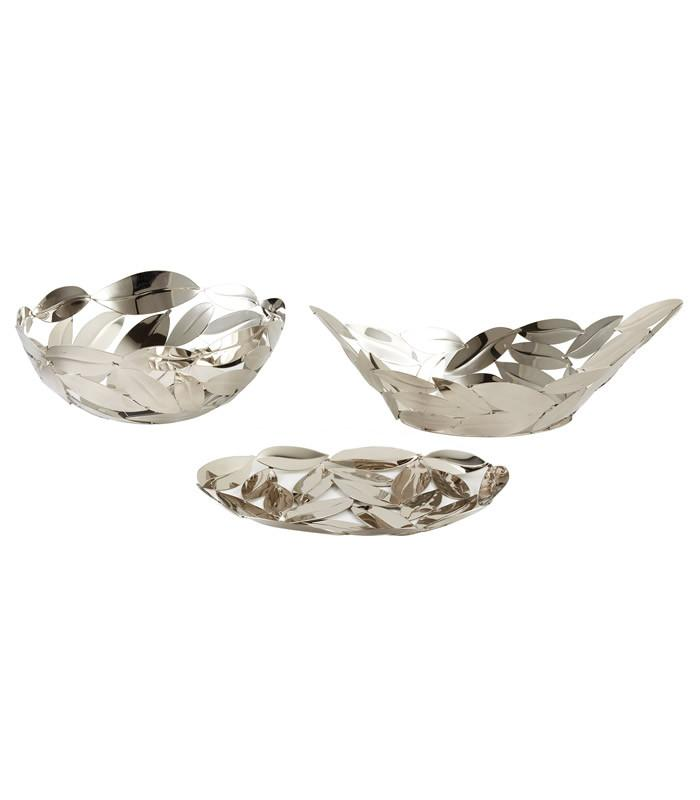 Leaves Basket, Boat, & Platter Set