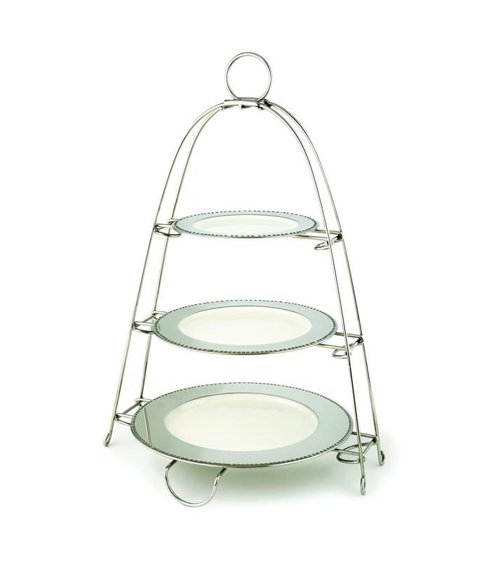 3 Tier Stand With Enamel Plates